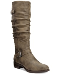 White Mountain Chip Riding Boots Women's Shoes Stone