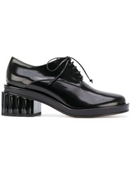 Simone Rocha Lacquer Heel Derby Shoes Black