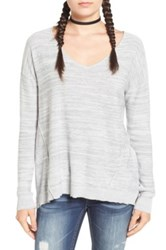 Bp Marl V Neck Pullover Gray