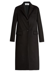 Valentino Double Faced Wool And Cashmere Blend Coat Black