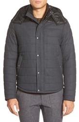 Men's Vince 'Super' Quilted Flannel Jacket With Leather Trim