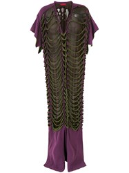 Di Liborio Long Strappy Dress Pink And Purple