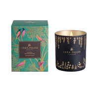 Sara Miller Printed Glass Soy Wax Candle 240G White Tea Bergamot And Mint