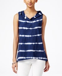 Styleandco. Style And Co. Petite Hooded Tie Dyed Tank Top Only At Macy's Ink