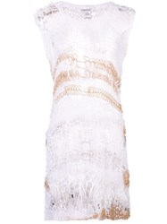 Rodarte Distressed Knit Top White