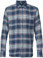 Paige Plaid Shirt Blue