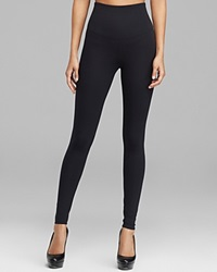Yummie Tummie Yummie By Heather Thomson Rachel Compact Cotton Leggings Black