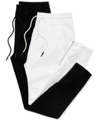 Jaywalker Men's Drawstring 2 Pack Denim Pants Black White
