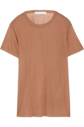 Kain Label Brett Modal And Silk Blend T Shirt Light Brown