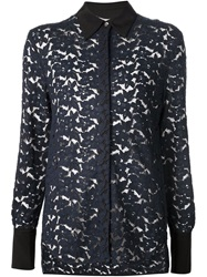 3.1 Phillip Lim Lace Shirt Blue