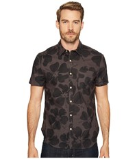 Lucky Brand Short Sleeve Ballona Shirt Black Multi Men's Short Sleeve Button Up