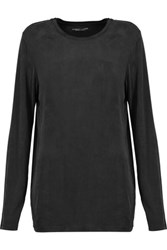 Majestic Stretch Jersey Top Black