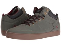 Emerica The Hsu G6 Grey Gum Red Men's Skate Shoes Green