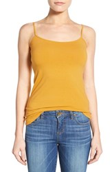 Women's Halogen 'Absolute' Camisole Yellow Nugget