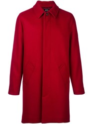 A.P.C. Concealed Fastening Coat Red