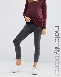New Look Maternity Acid Wash Under The Bump Skinny Jeggings Grey