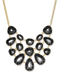 Charter Club Gold Tone Colored Stone Statement Necklace Only At Macy's Black