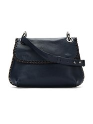 Mara Mac Leather Shoulder Bag Blue
