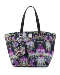 Nicole Miller City Life Printed Tote Bag Canopy Black