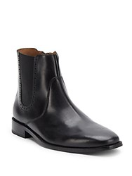 Cole Haan Leather Zipped Ankle Boots Caviar
