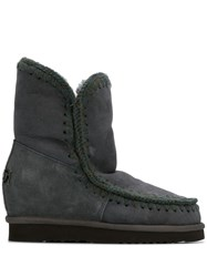 Mou Inner Wedge Boots Grey