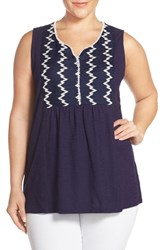 Plus Size Women's Two By Vince Camuto Lace Bib Tank