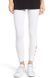 Hue Women's Cutout Ankle Leggings White