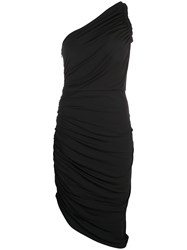 Halston Heritage Asymmetric Gathered Dress Black