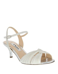 Nina Camille High Heel Dress Sandals Ivory Silver
