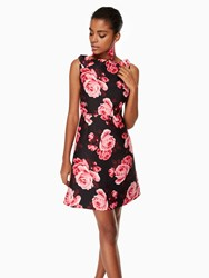 Kate Spade Rosa A Line Dress Black Multi