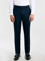 Topman New Navy Slim Suit Trousers Blue