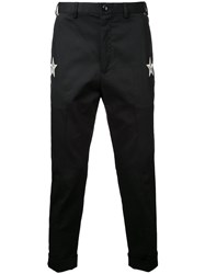 Education From Youngmachines Star Patches Chinos Black