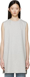 Maison Martin Margiela Grey Long Sleeveless Sweatshirt