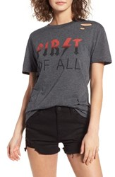 Ten Sixty Sherman Women's First Of All Ripped Tee Charcoal
