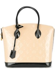 Louis Vuitton Vintage Lockit Pm Tote Bag Nude And Neutrals