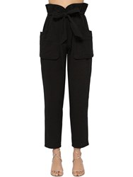 Etoile Isabel Marant Bessie Padded Canvas Pants Black