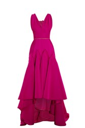 Marchesa Silk Bow Back Dress Pink