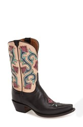 Women's Lucchese 'Flower' Western Boot Black