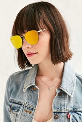 Urban Outfitters Spacewoman Rimless Frame Sunglasses Gold