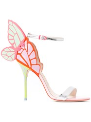 Sophia Webster Butterfly Heel Sandals Pink Purple