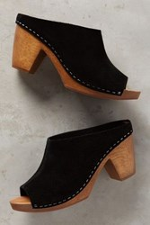 Anthropologie Kelsi Dagger Bergen Clogs Black 7 Wedges