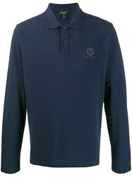 Belstaff Knitted Polo Shirt Blue