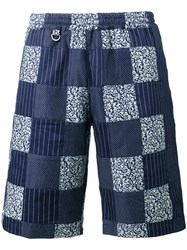 Sophnet. Patchwork Easy Shorts Men Cotton S Blue
