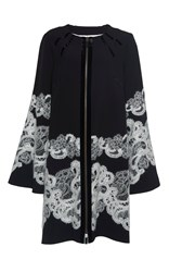 Andrew Gn Lace Detail Coat Black