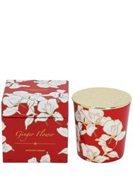 Shanghai Tang Ginger Flower Bone China Scented Candle Red
