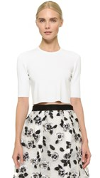 Lela Rose Crop Top Ivory