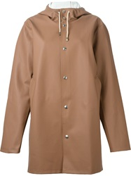 Stutterheim Hooded Raincoat Brown