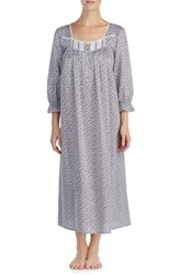 Eileen West Chambray Cotton Nightgown Chrcl Chmbry White Daisy