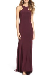Xscape Evenings Women's Jersey Cutout Bodice Gown