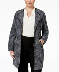 Jm Collection Plus Size Striped Jacket Only At Macy's Shimmer Stripe